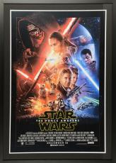 "Daisy Ridley Framed Autographed 34"" x 46"" Star Wars The Force Awakens Movie Poster – PSA/DNA"