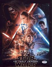 Daisy Ridley & Jj Abrams Dual Signed 11x14 Star Wars Photo Psa Itp 7a73759