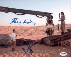 Daisy Ridley & Jj Abrams Dual Signed 8x10 Star Wars Photo Psa Aa50971