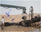 Daisy Ridley J.J. Abrams Signed 11X14 Photo Star Wars Force Awakens PSA JJ