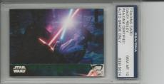 Daisy Ridley Rey Signed Topps Star Wars 2016 #92 Full Autograph Signature Psa 10