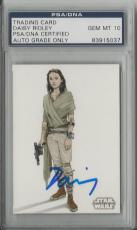 Daisy Ridley Rey Signed Topps Star Wars Concept Art Autograph Signature Psa 10