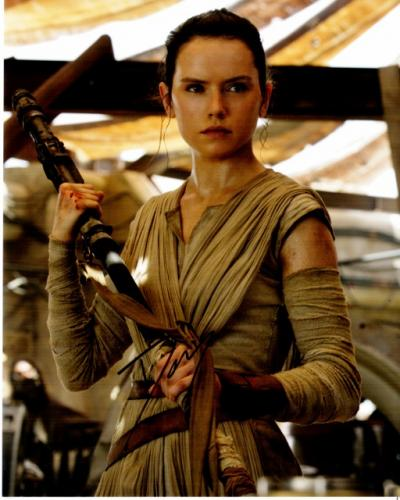 Daisy Ridley Signed - Autographed Star Wars: The Force Awakens Episode 7 REY 8x10 inch Photo - Guaranteed to pass PSA or JSA
