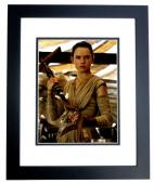 Daisy Ridley Signed - Autographed Star Wars: The Force Awakens Episode 7 REY 8x10 inch Photo BLACK CUSTOM FRAME - Guaranteed to pass PSA or JSA