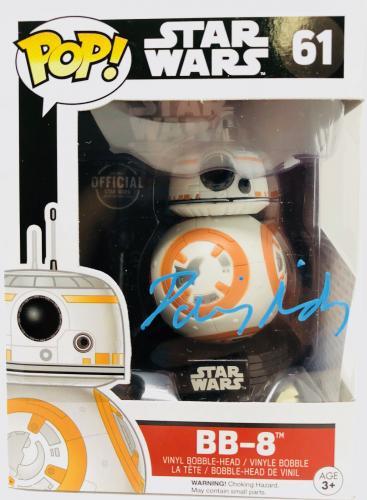 Daisy Ridley Signed BB8 Funko Pop Star Wars Jedi - PSA DNA Witness Auto