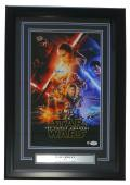 Daisy Ridley Signed Framed 10x16 Star Wars: The Force Awakens Poster PSA