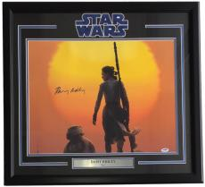Daisy Ridley Signed Framed 16x20 Star Wars: The Force Awakens Photo PSA 8A05479