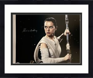Daisy Ridley Signed Star Wars 16x20 Canvas Photo Space - Rey PSA DNA COA