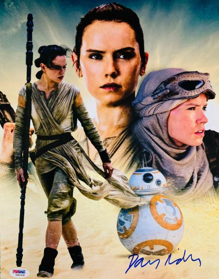 Daisy Ridley Signed Star Wars 16x20 Photo Collage - Rey PSA DNA COA