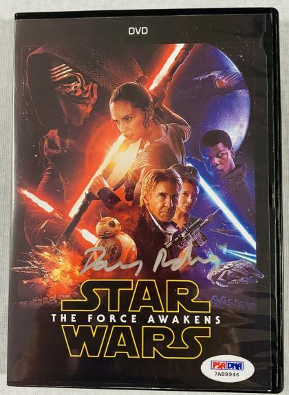 Daisy Ridley Signed Star Wars The Force Awakens DVD PSA DNA COA