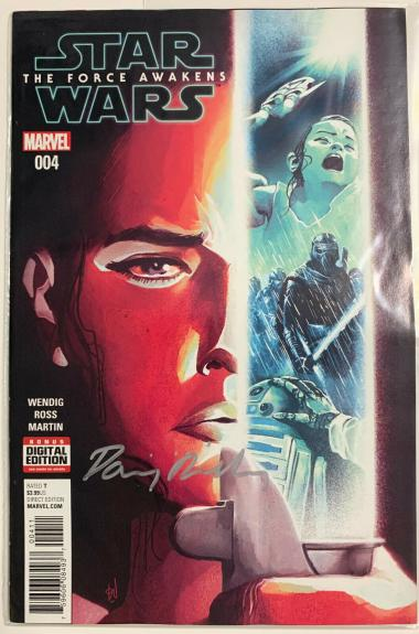 Daisy Ridley Signed Star Wars The Force Awakens Marvel Comic 004 Rey PSA DNA