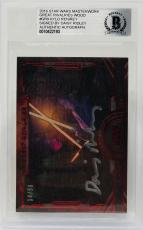Daisy Ridley Signed Star Wars The Force Awakens Topps LE 14/50 Rey - BAS #GR-9
