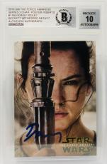Daisy Ridley Signed Star Wars The Force Awakens Topps Rey - BAS Graded 10 #1