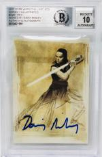 Daisy Ridley Signed Star Wars The Last Jedi Topps Rey - Beckett BAS Graded 10