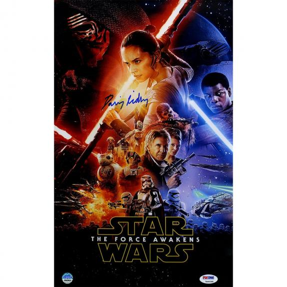 Daisy Ridley Signed Star Wars VII: The Force Awakens 10x16 Full Cast Movie Poster (PSA/DNA & SSM)