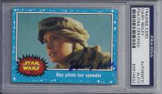 Daisy Ridley Signed Topps STAR WARS Trading Card - PSA DNA