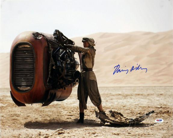 Daisy Ridley Star Wars The Force Awakens Signed 16x20 Photo PSA/DNA Itp #7A73255