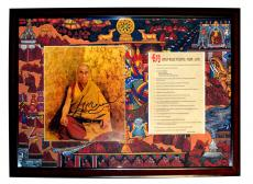 Dalai Lama Autographed Framed Custom Framed One of A Kind Instructions Display