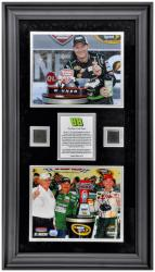 """Dale Earnhardt Jr. 2012 Quicken Loans 400 Framed 8"""" x 10"""" Photos with Race-Used Tire - Limited Edition of 50"""