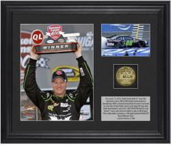 Dale Earnhardt, Jr. 2012 Quicken Loans 400 Race Winner 6 x 5 Photo with Plate & Gold Coin - Limited Edition of 388 - Mounted Memories
