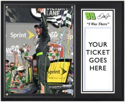 "Dale Earnhardt Jr. 2012 Quicken Loans 400 Sublimated 12"" x 15""""I Was There"" Photo Plaque - Mounted Memories"