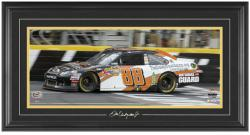 Dale Earnhardt, Jr. 2012 Sprint Showdown Race Winner Framed Mini Panoramic with Facsimile Signature - Mounted Memories