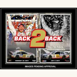 Dale Earnhardt Jr. 2014 Daytona Sweep Sublimated 12'' x 15'' Plaque