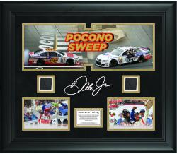 Dale Earnhardt Jr. Framed 2014 Pocono Sweep Collage With Race- Used Tire