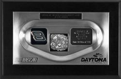 Dale Earnhardt, Jr. 2004 Daytona 500 Winner Daytona Zinc Replica Showpiece with Piece of Track - Mounted Memories
