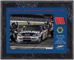 Dale Earnhardt, Jr. 2010 Race-Used Lug Nut 8'' x 10'' Plaque - Limited Edition of 588 - Mounted Memories