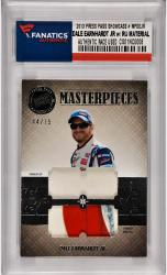 Dale Earnhardt Jr Nascar 2013 Press Pass Showcase Masterpieces #MPDEJR Card with Race Used Fire Suit/Sheet Metal /75