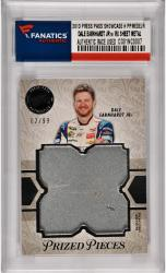 Dale Earnhardt Jr Nascar 2013 Press Pass Showcase Prized Pieces #PPMDEJR Card with Race Used Sheet Metal /99
