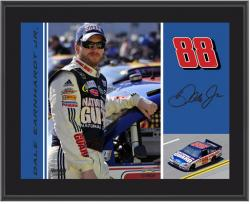"Dale Earnhardt, Jr. National Guard 10"" x 13"" Sublimated Plaque - Mounted Memories"