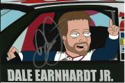 Signed Earnhardt Jr. Picture - THE CLEVELAND SHOW FAMILY GUY 4x6