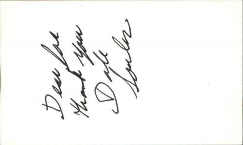"""DALE SOULES ORANGE IS THE NEW BLACK Signed 3""""x5"""" Index Card"""