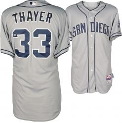 Dale Thayer San Diego Padres Game Used Grey Jersey from 6/12/14 vs Philadelphia Phillies