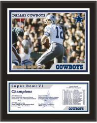 "Dallas Cowboys Super Bowl VI 12"" x 15"" Sublimated Plaque"