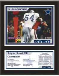 "Dallas Cowboys Super Bowl XII 12"" x 15"" Sublimated Plaque"
