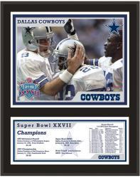 """Dallas Cowboys Super Bowl XXVII 12"""" x 15"""" Sublimated Plaque"""