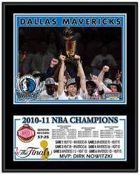 """Dallas Mavericks 2011 NBA Finals Champions Sublimated 12"""" x 15"""" Plaque"""