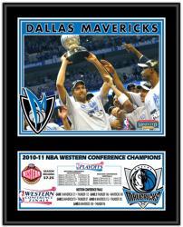 Dallas Mavericks 2011 NBA Western Conference Champions Plaque