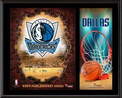 "Dallas Mavericks Sublimated 12"" x 15"" Team Logo Plaque"
