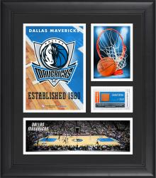 "Dallas Mavericks Team Logo Framed 15"" x 17"" Collage with Team-Used Baseketball"