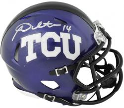 Andy Dalton TCU Horned Frogs Autographed Mini Helmet - Mounted Memories