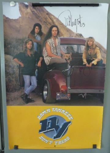 Damn Yankees Ted Nugent & Tommy Shaw Signed 22x34 Poster PSA BAS Guaranteed