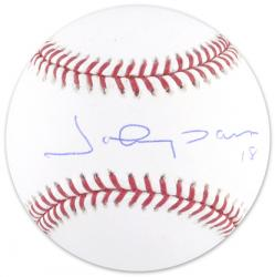 Johnny Damon Cleveland Indians Autographed Baseball - Mounted Memories