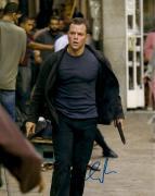 Matt Damon Autographed 11'' x 14'' Holding Gun Photograph
