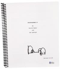 Dan Aykroyd Autographed Ghostbusters 2 Replica Movie Script - Beckett COA