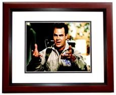 Dan Aykroyd Signed - Autographed Ghostbusters 11x14 Photo MAHOGANY CUSTOM FRAME