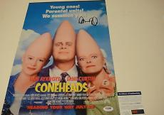 Dan Aykroyd Signed Coneheads Ghostbusters Photo Movie Poster Psa/dna Coa U34032